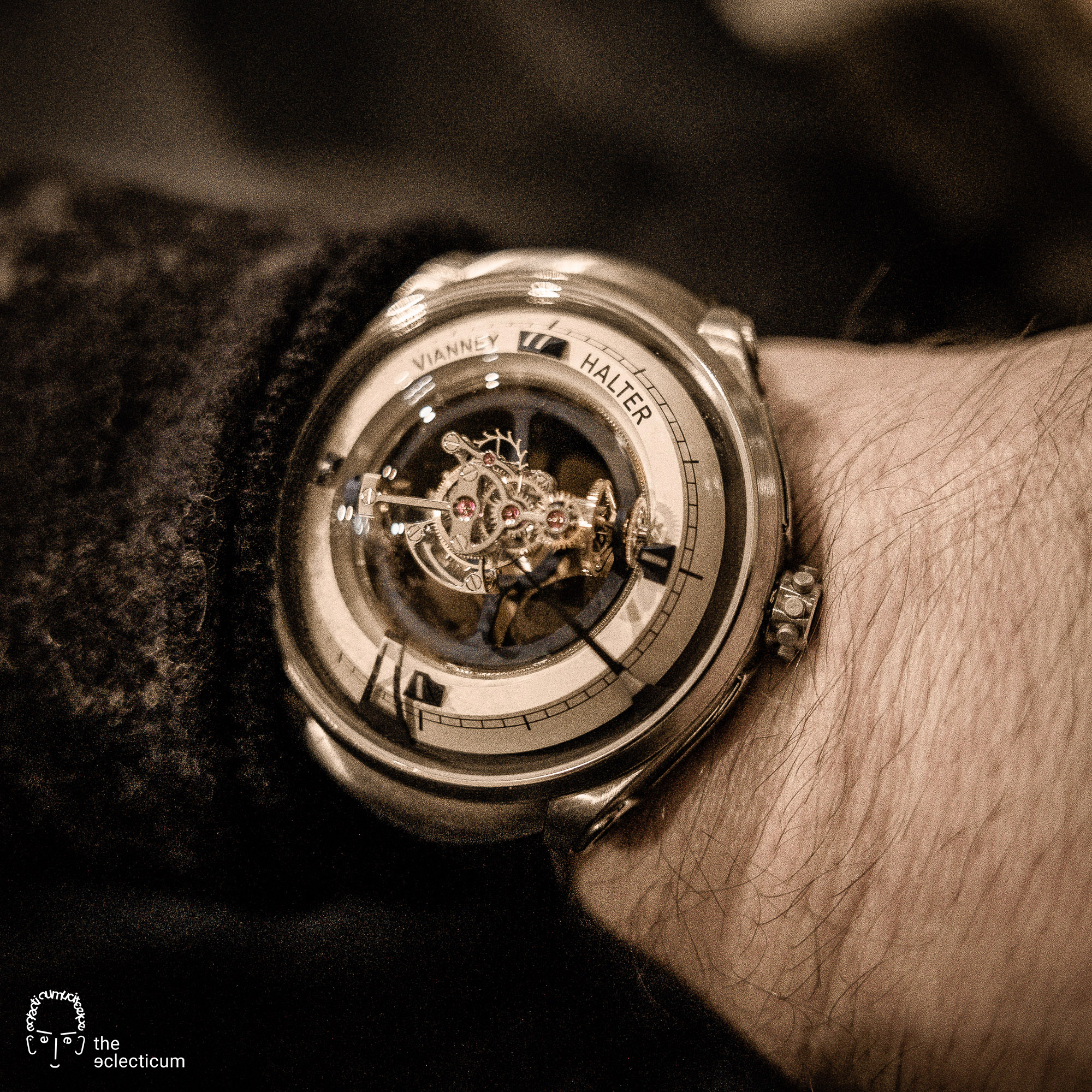 Vianney Halter Deep Space Tourbillon wristshot