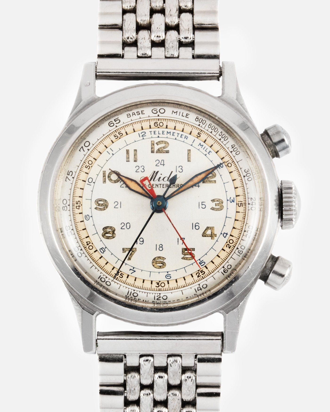 Mido Multi Centerchrono central stack chronograph vintage