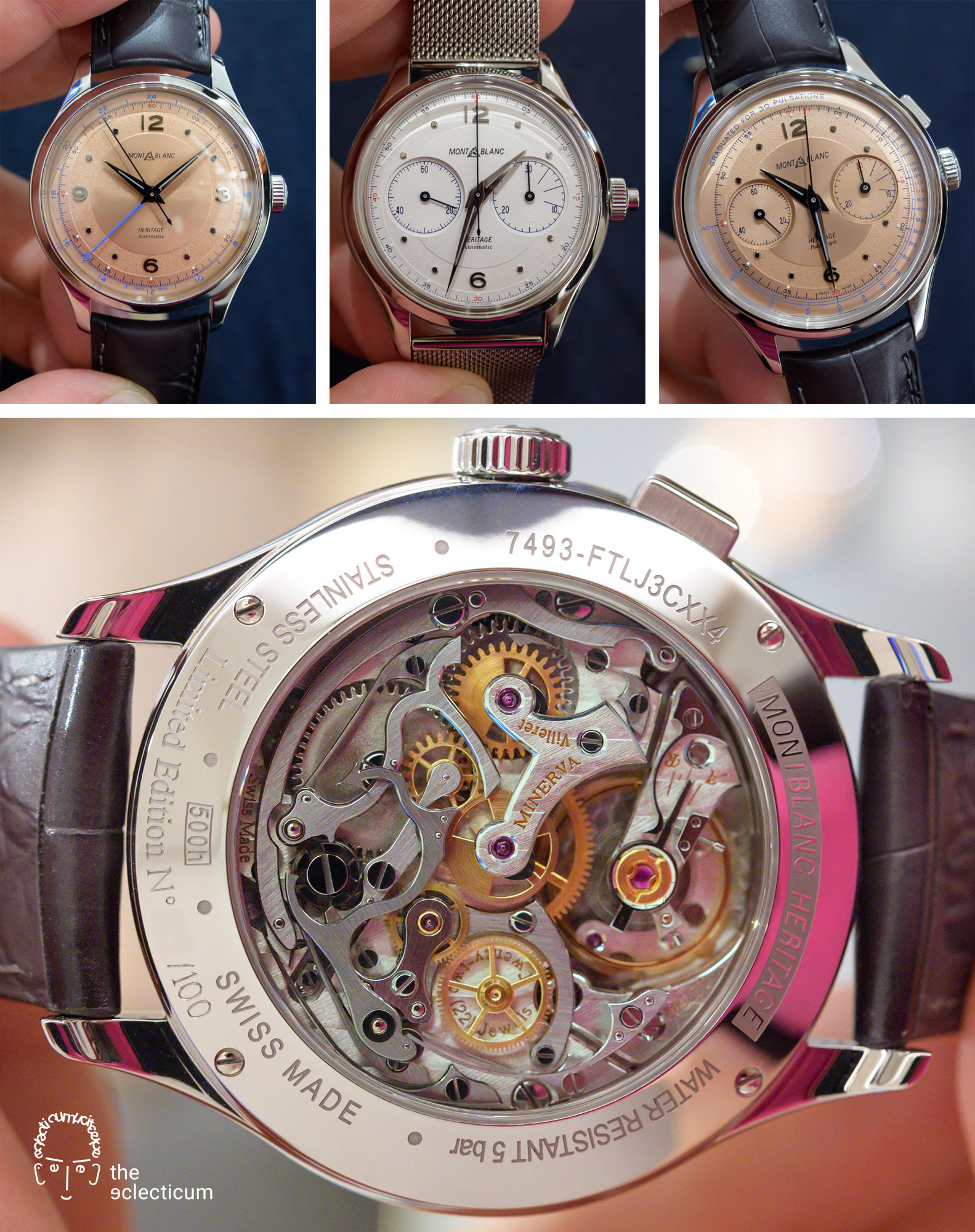 Montblanc Heritage GMT Monopusher Chronograph Minerva movement Manufacture Pulsograph
