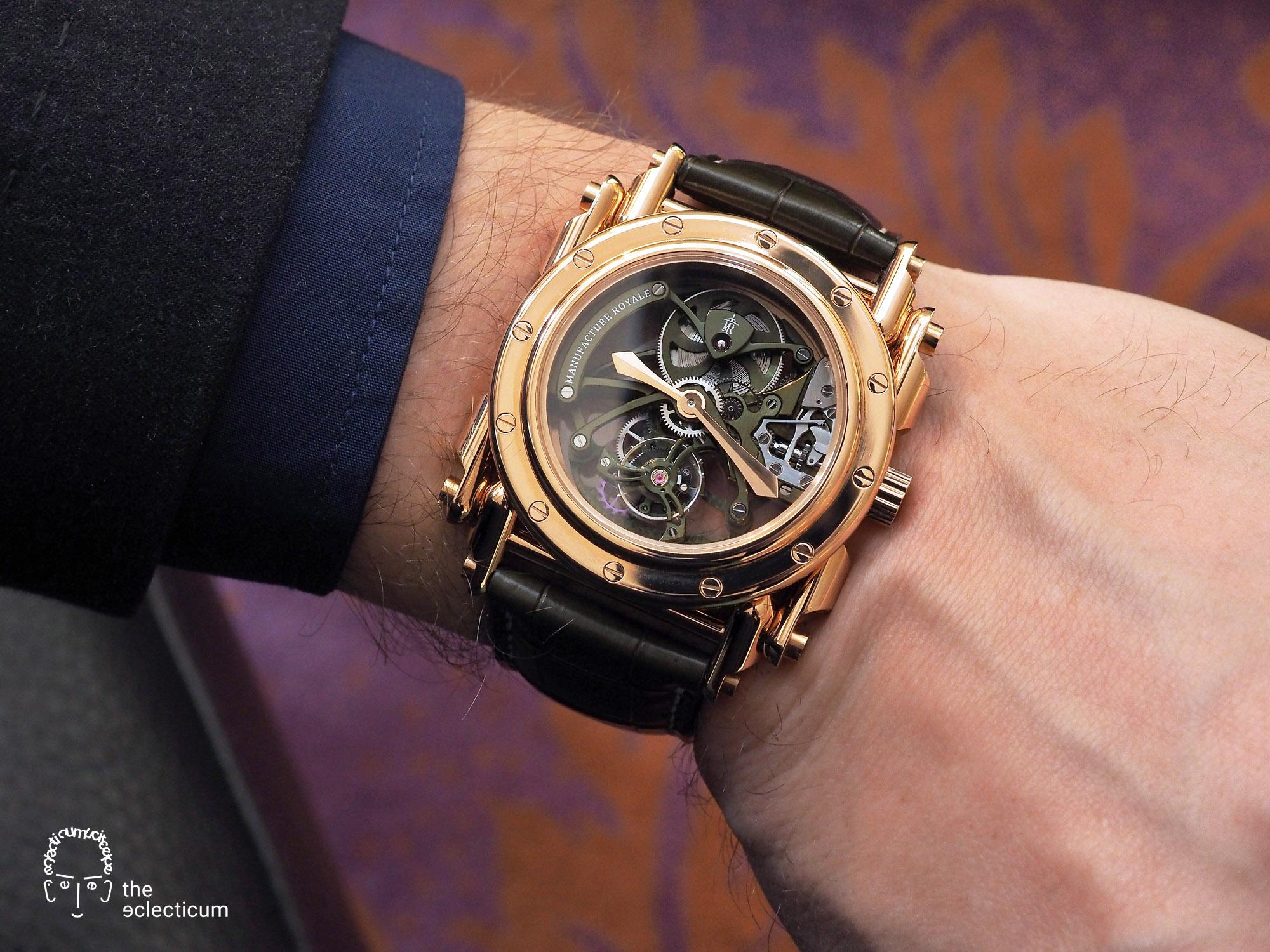 Manufacture Royale Androgyne Hulk Green Tourbillon Silicon Escapement wristshot