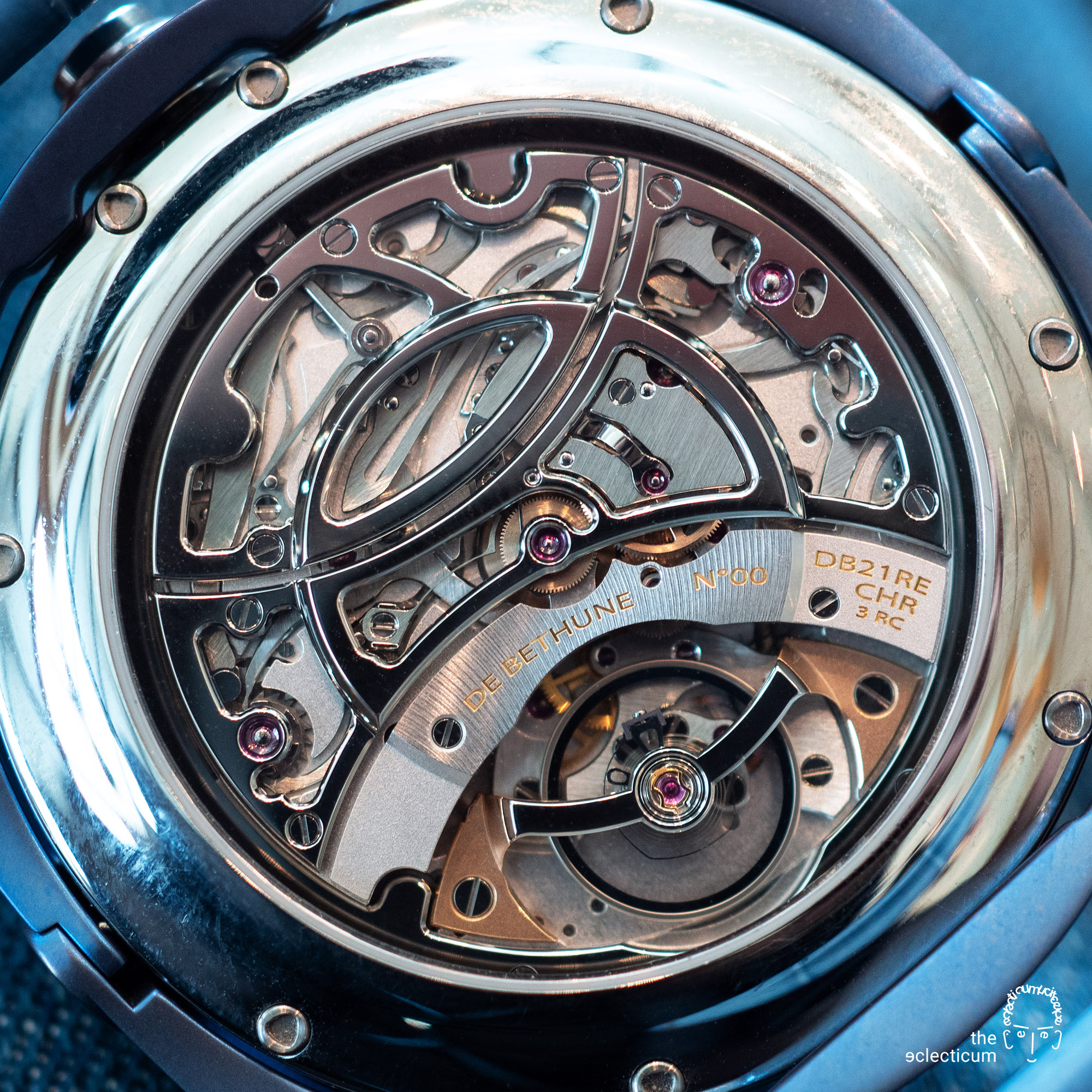 De Bethune DB21RE MaxiChrono Reedition chronograph central stack manufacture movement Cal. DB2030