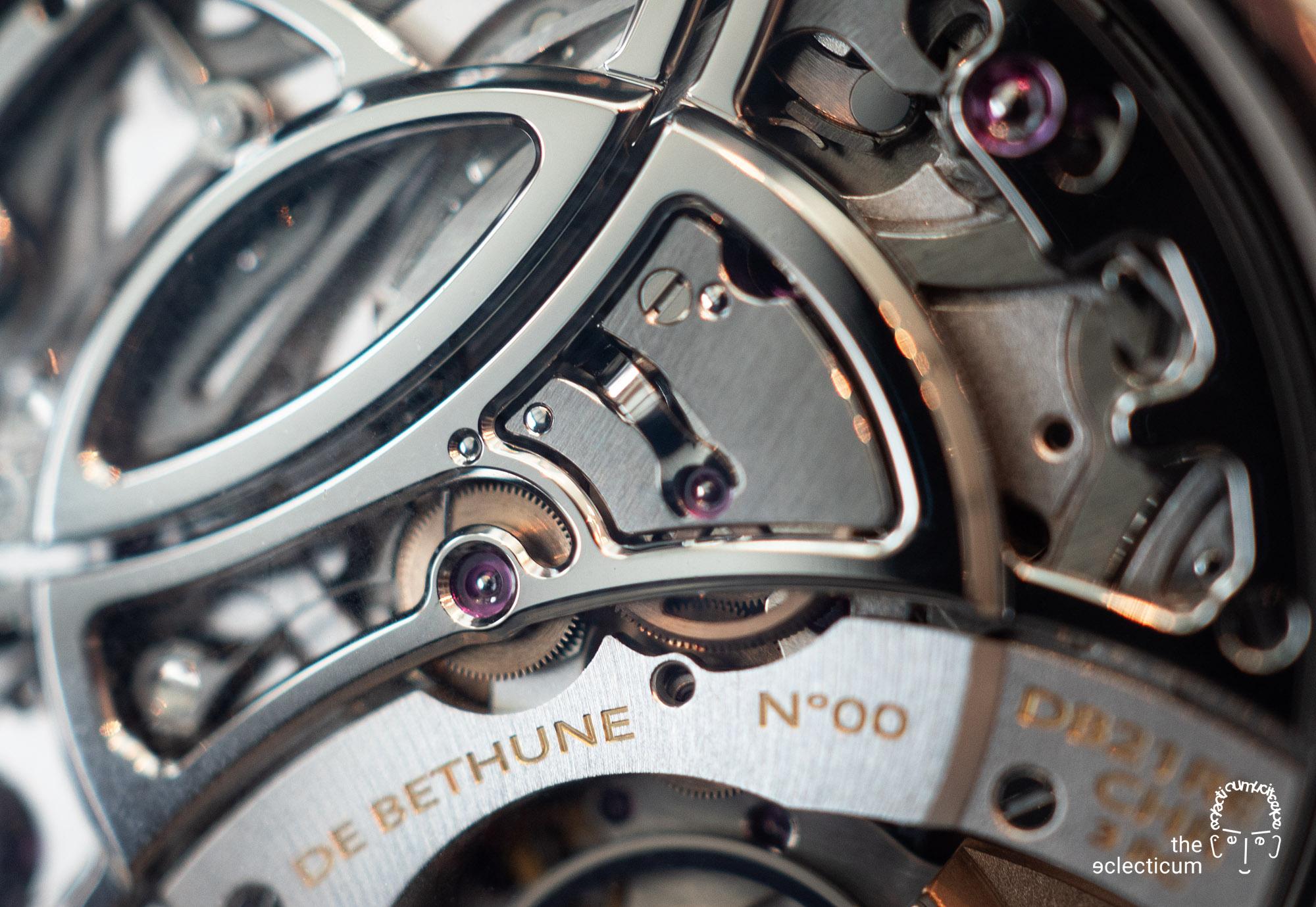 De Bethune MaxiChrono chronograph Central stack movement Cal. DB2030