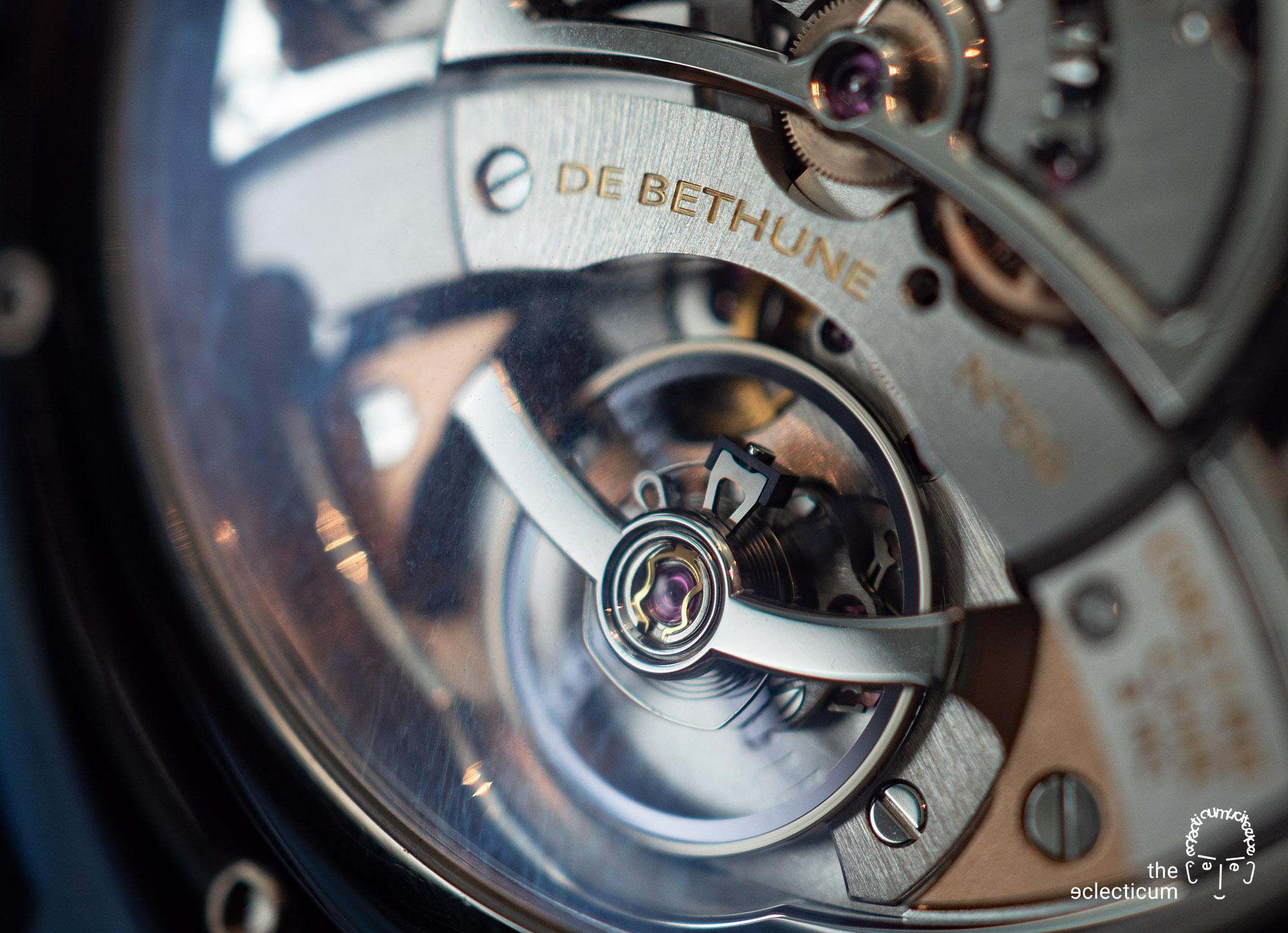 De Bethune MaxiChrono chronograph Central stack movement Cal. DB2030 balance