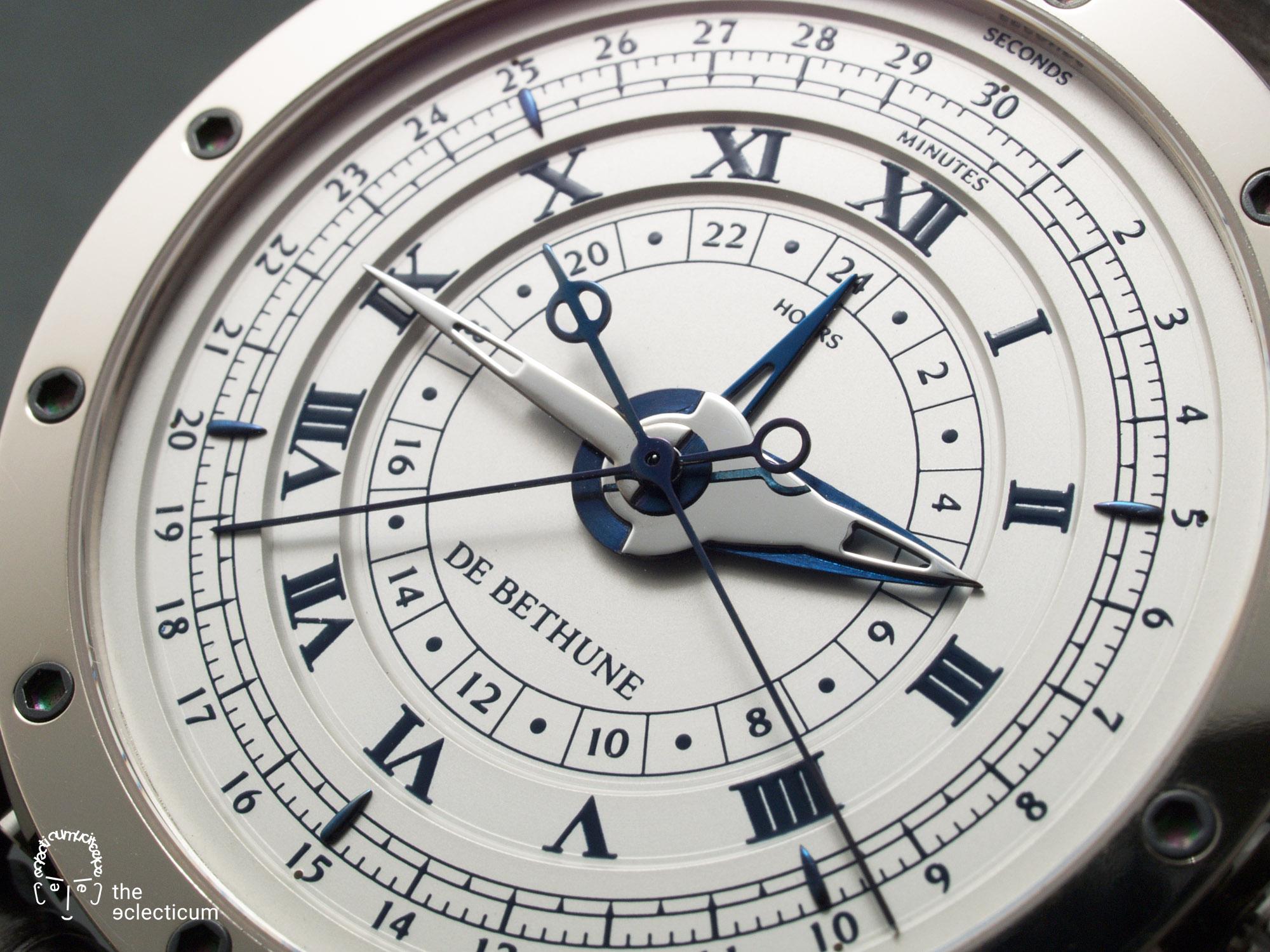 De Bethune DB21 MaxiChrono chronograph central stack dial
