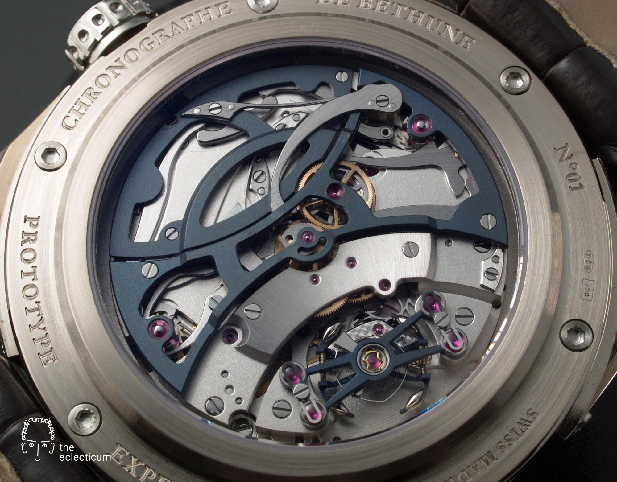 De Bethune DB21 MaxiChrono chronograph Central stack movement Cal. DB2034
