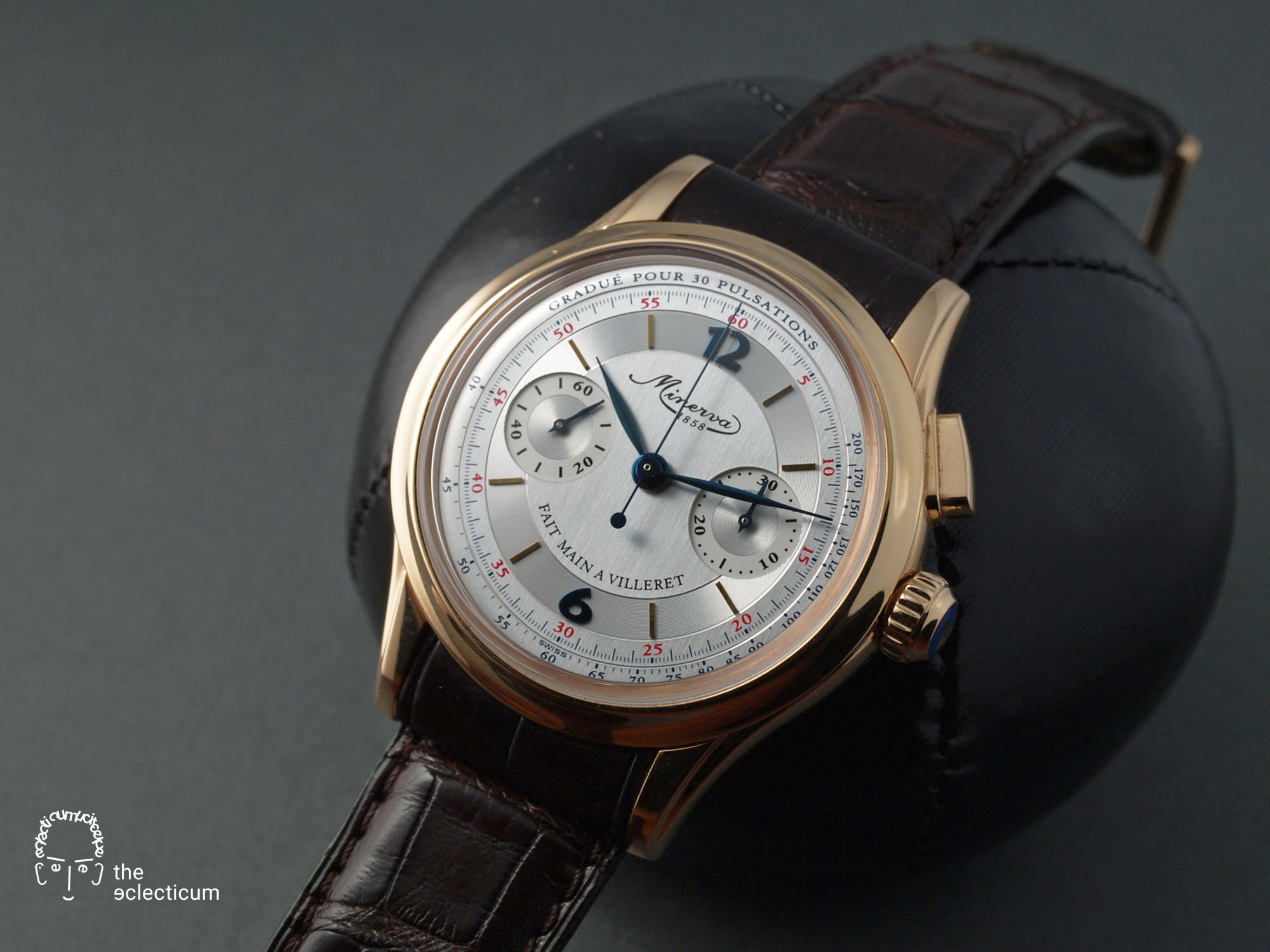 Minerva Chronograph Monopusher red gold Cal. 13-21 manufacture