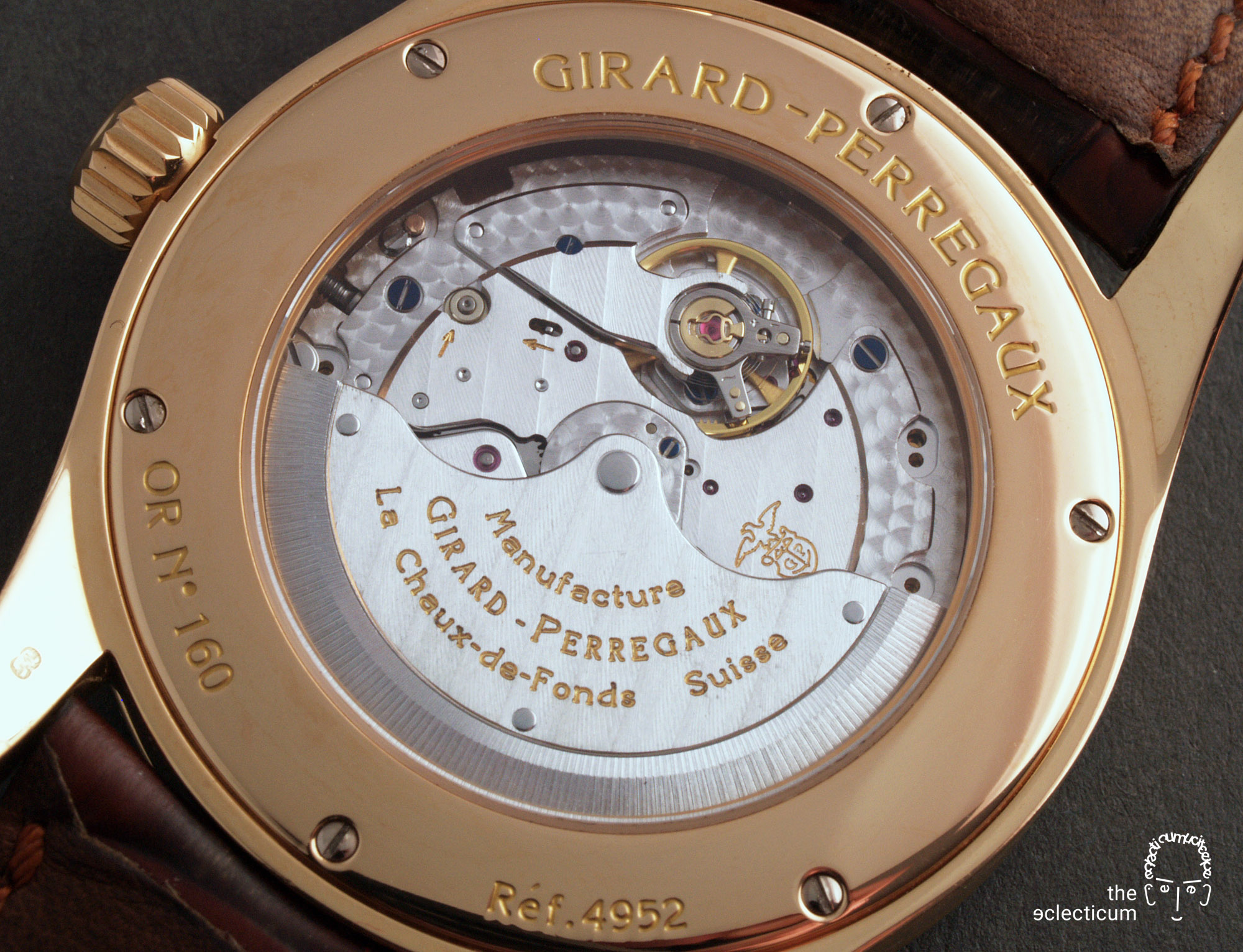 Girard-Perregaux Classique Elegance Ref. 49520 manufacture rose gold in-house caseback GP3300 movement