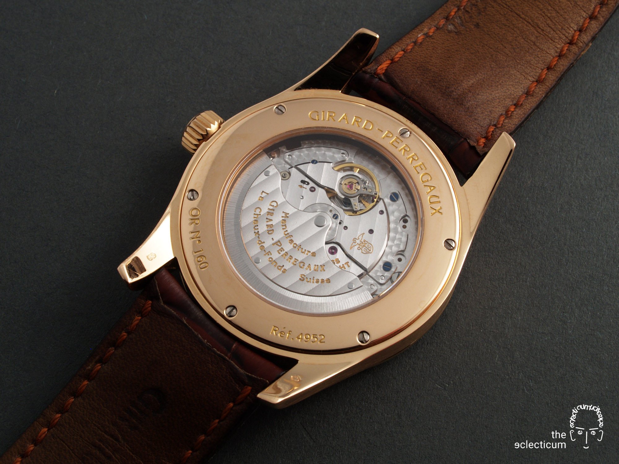 Girard-Perregaux Classique Elegance Ref. 49520 manufacture rose gold in-house caseback GP3300