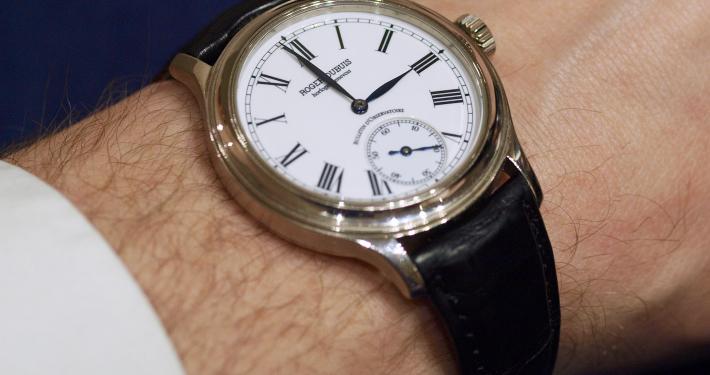 Roger Dubuis Hommage Condottieri RD27 Cyma Tavannes Cal. 507 586 chronometer Besançon Grand Feu enamel Poinçon de Geneve Geneva Seal