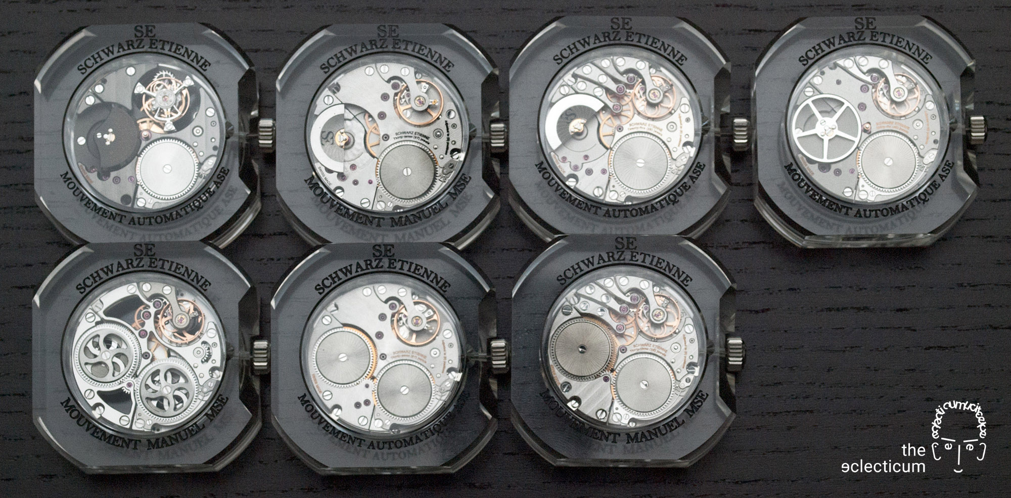 Schwarz Etienne movements in-house manufacture ASE MSE tourbillon micro-rotor
