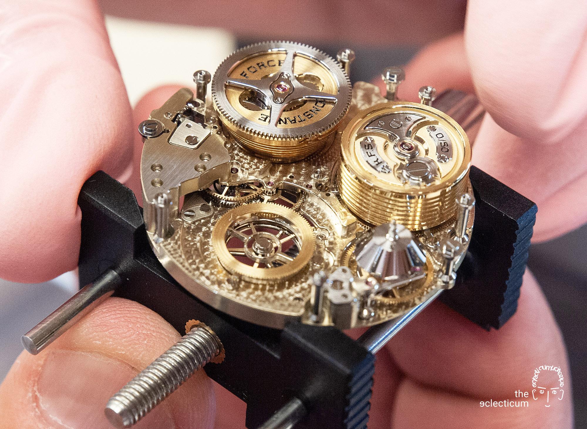 Ferdinand Berthoud Chronometry FB 1R 1L 1 chronometer tourbillon assembly watchmaking movement