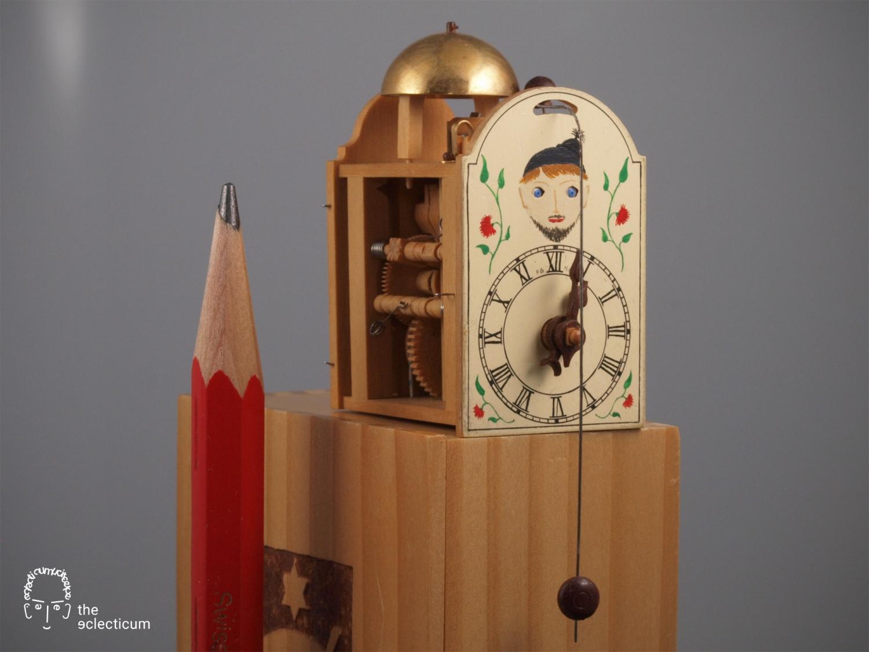 Paul Gerber AHCI manufacture miniature wooden clock