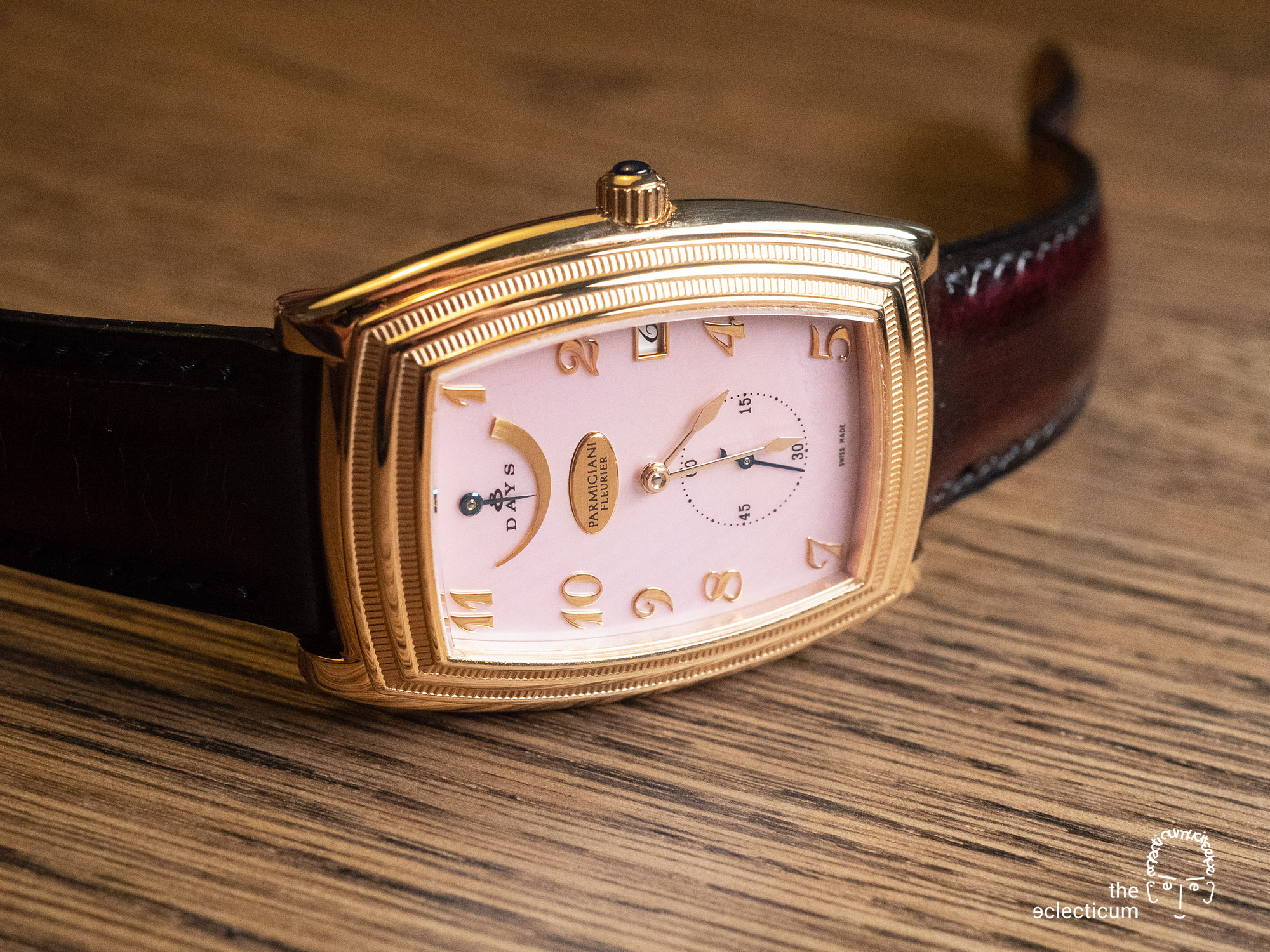 Parmigiani Ionica Hebdomadaire red gold mother-of-pearl