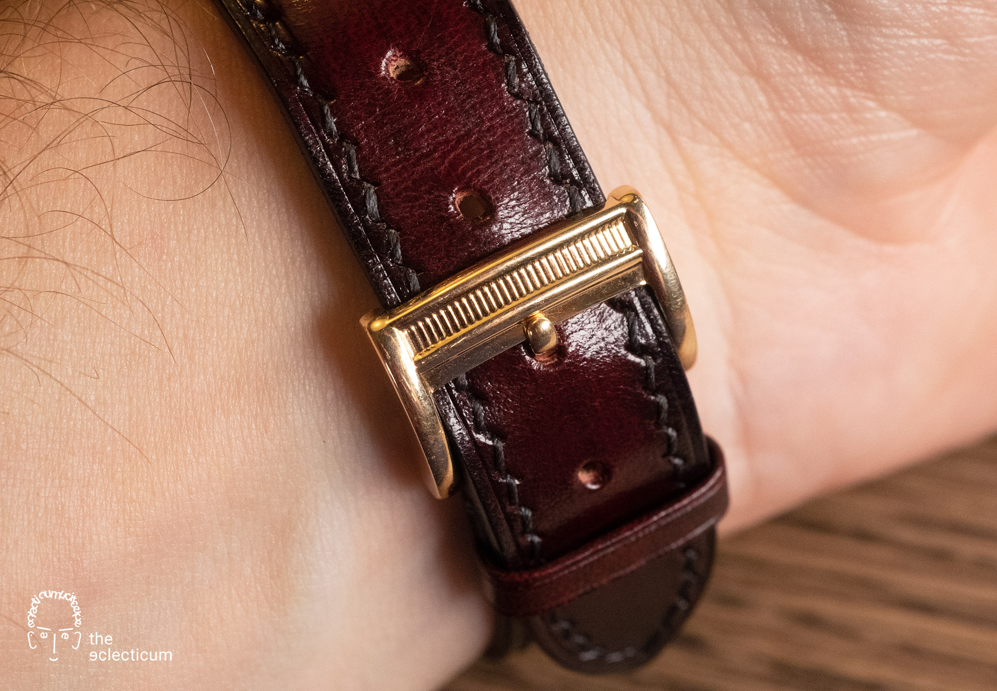 Parmigiani Ionica Hebdomadaire red gold mother-of-pearl buckle