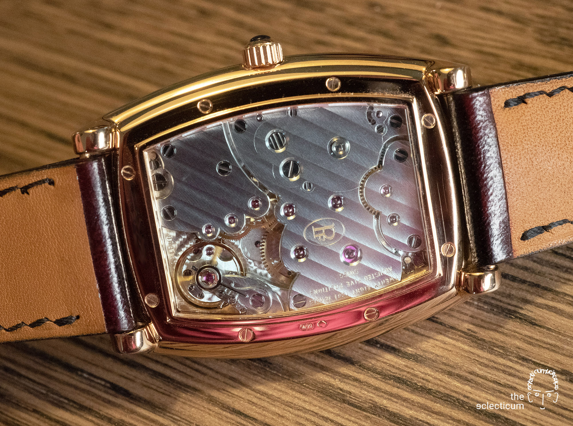 Parmigiani Ionica Hebdomadaire red gold mother-of-pearl movement cal. PF110