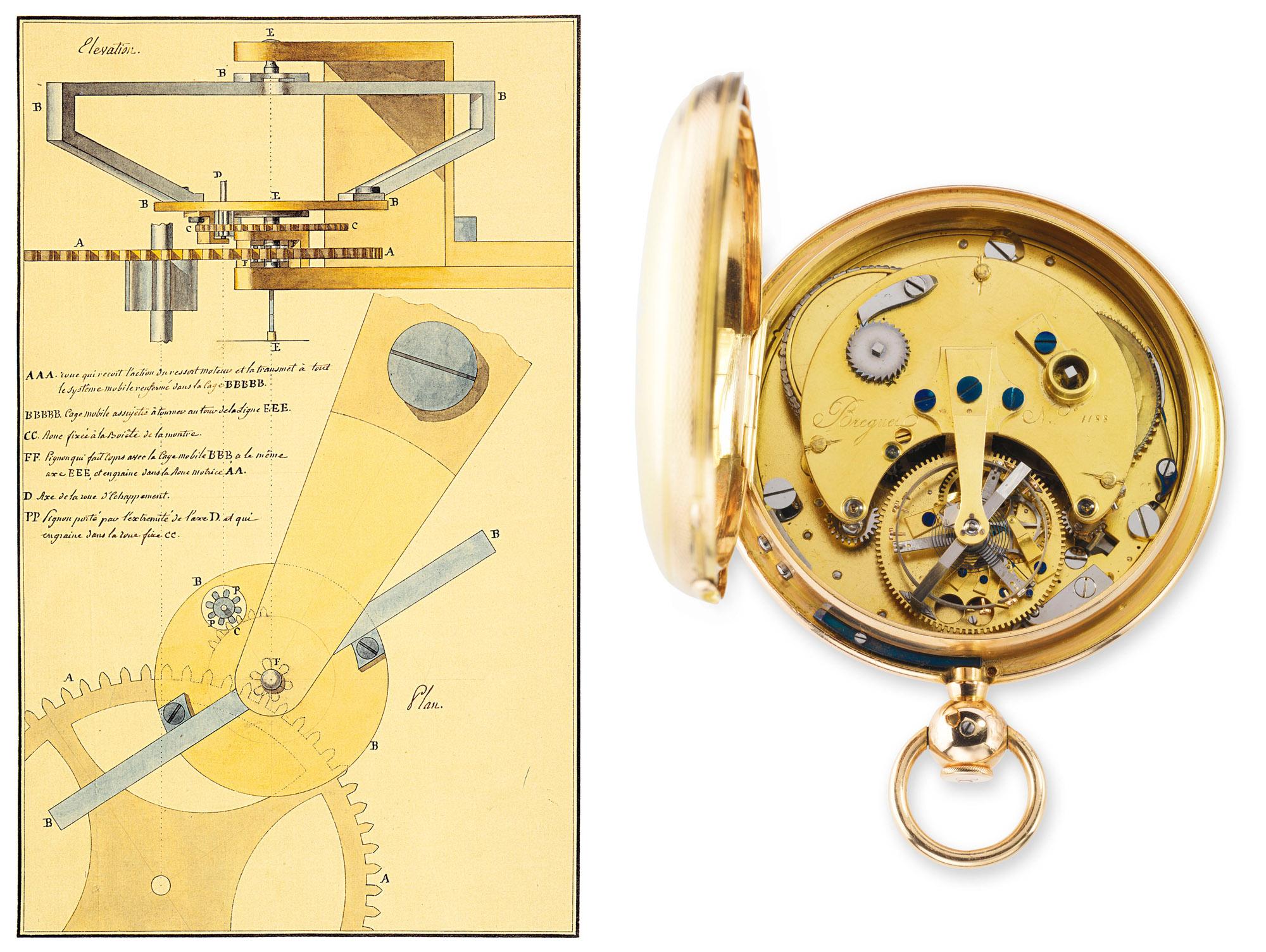 Breguet Pocket Watch Tourbillon No. 1188 patent application