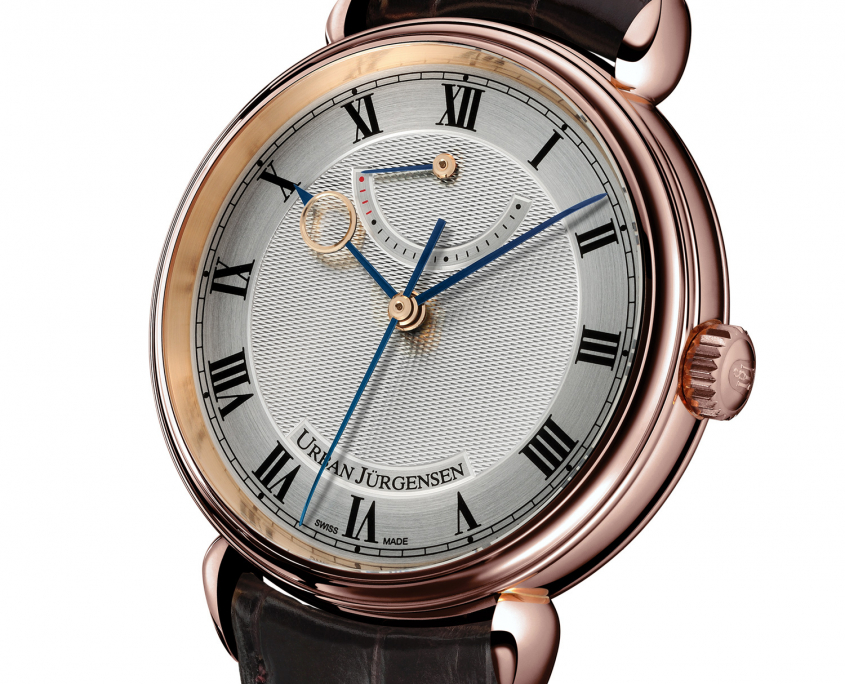 Urban Jurgensen 1140 red gold case Guy Lucas de Paslouan guilloche