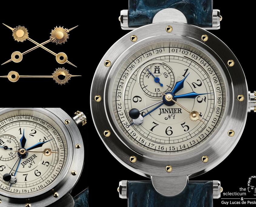 Photographer Guy Lucas de Peslouan shares his images and thoughts on Vianney Halter´s ´Classic Janvier – Moon and Sun` and we ´the eclecticum` added some context