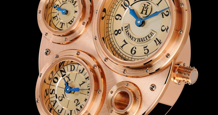 Vianney Halter Antiqua Perpetual Calendar steampunk inhouse movement Guy Lucas de Peslouan