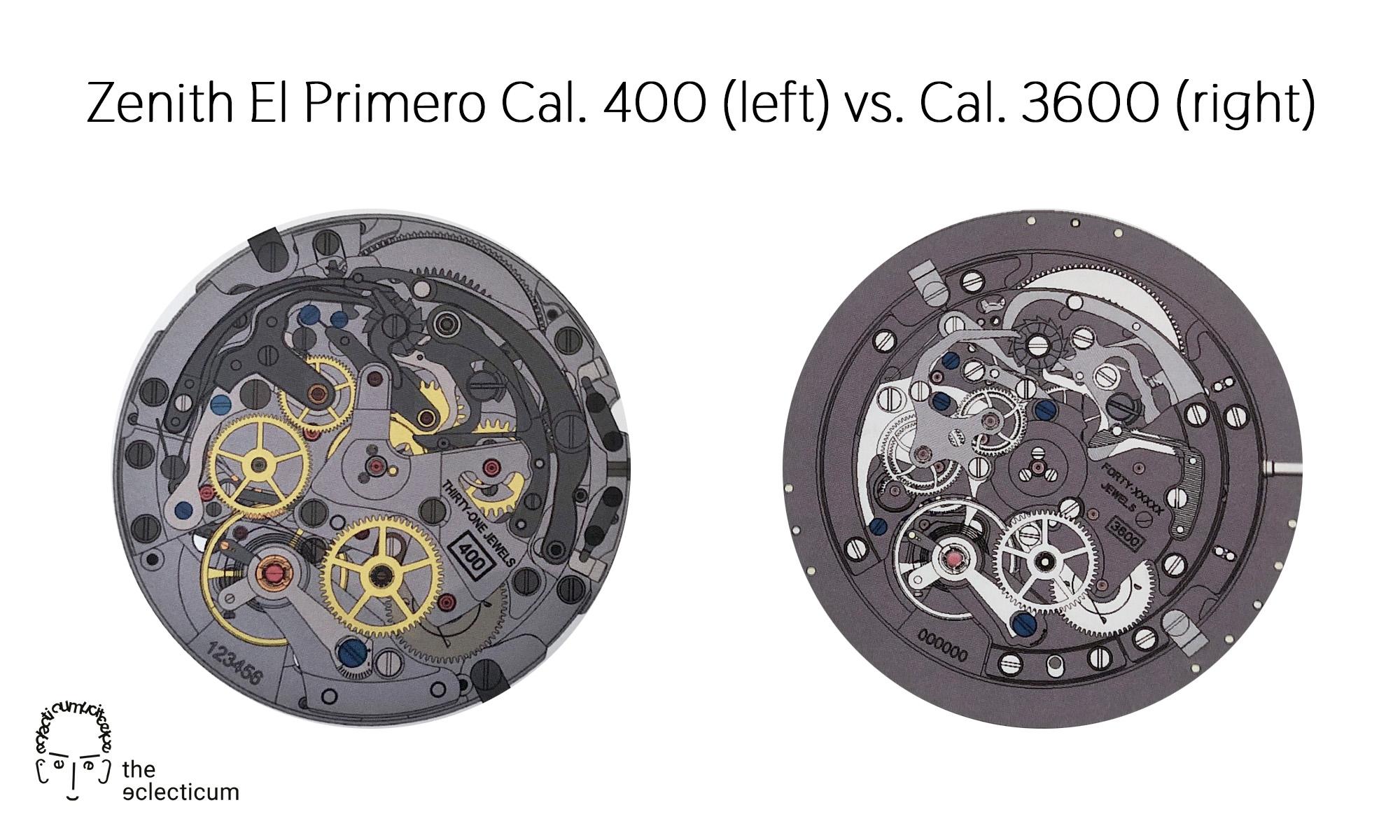 Zenith El Primero 400 3600 automatic chronograph movement